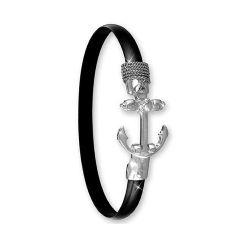 Studio Fine 6mm Black Titanium Anchor Hook Bangle