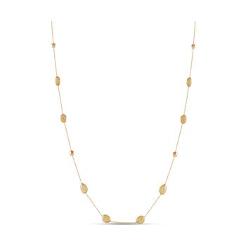 """18 Karat 36"""" Ethiopian Opal Ocean Drop Chain"""