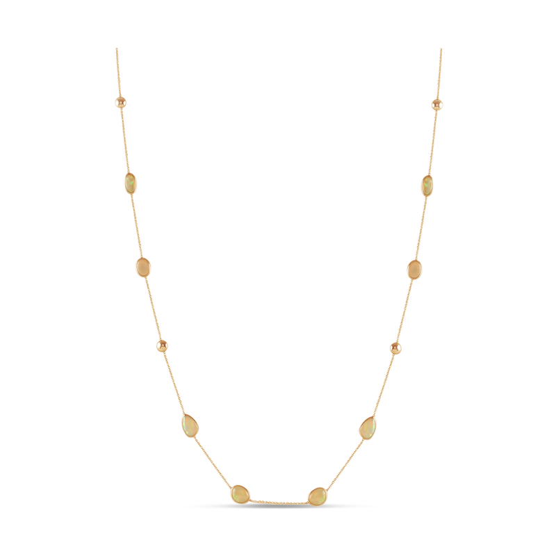 """Studio Fine 18 Karat 36"""" Ethiopian Opal Ocean Drop Chain"""