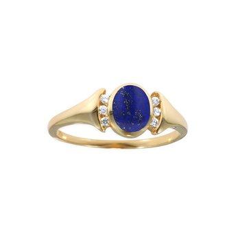 14 Karat Lapis Signet Ring