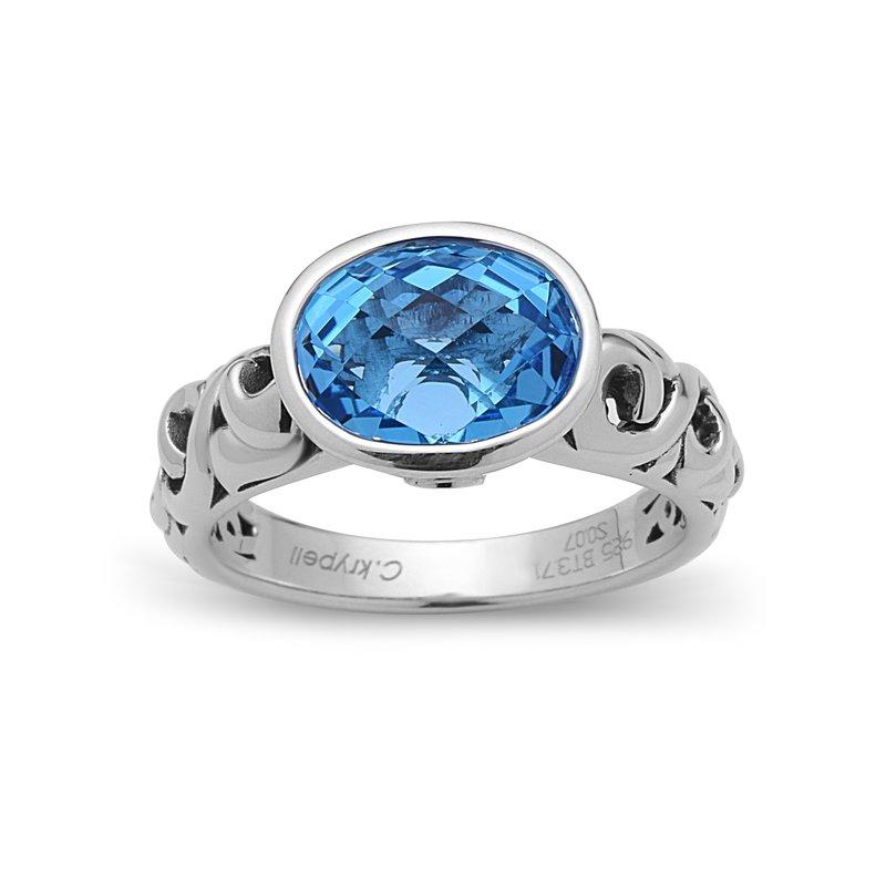 Studio Silver Blue Topaz Dylani Ring