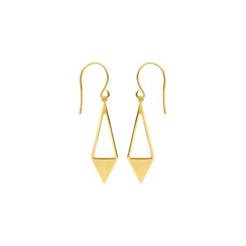 14 Karat Geometric Drop Earrings