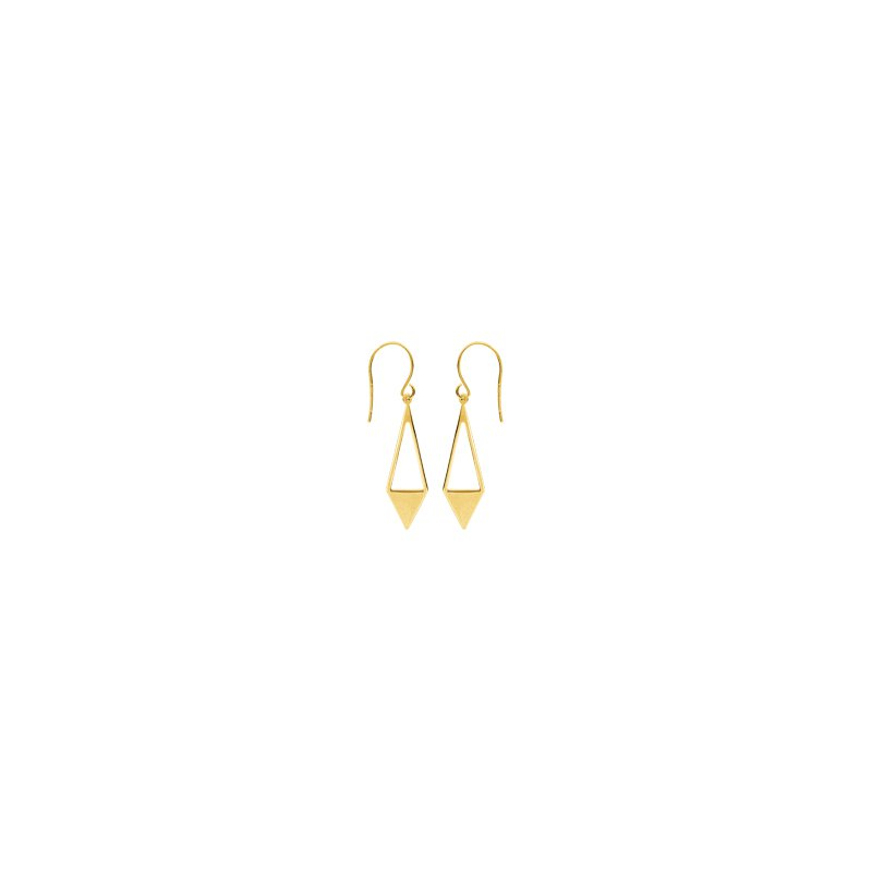 Studio Fine 14 Karat Geometric Drop Earrings