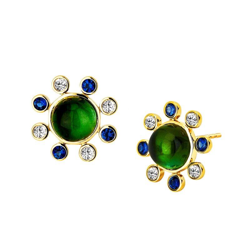 7 Mile Fine Green Tourmaline Bauble Earrings