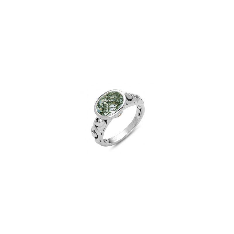 Studio Silver Green Amethyst Dylani Ring