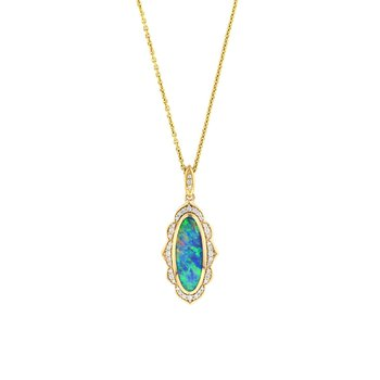 14 Karat 5-Star Opal Necklace