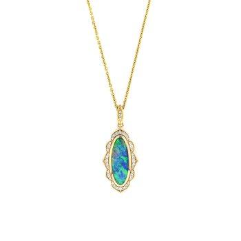 14 Karat 5-Star Opal Necklace