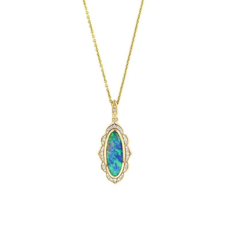 Studio Fine 14 Karat 5-Star Opal Necklace