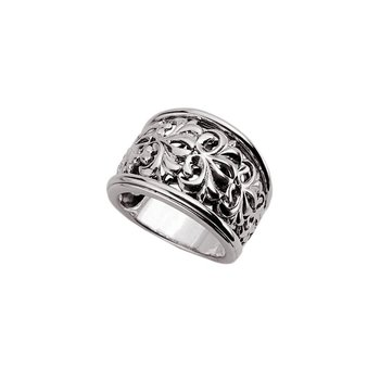 Sterling Silver Ivy Scroll Ring
