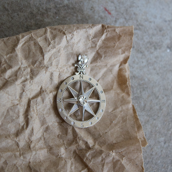 Large Classic Compass Charm