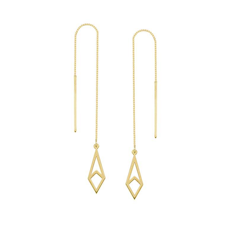 Studio Fine 14 Karat Geometric Threader Earrings