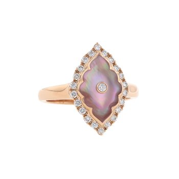 14 Karat Blush Alhambra Ring