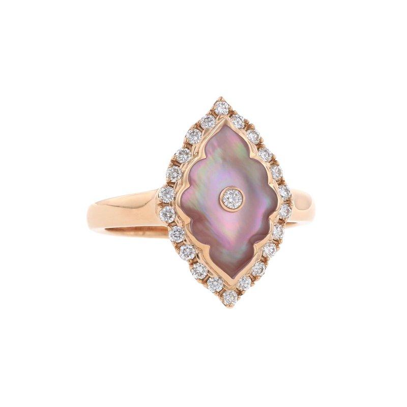 Studio Fine 14 Karat Blush Alhambra Ring