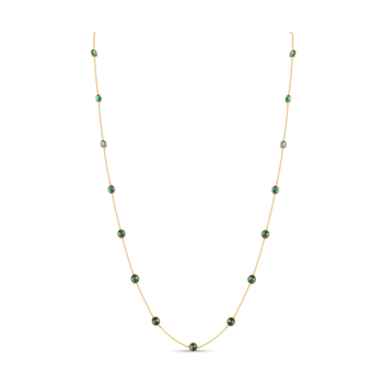 "18 Karat 18"" Emerald Rain Drop Chain"