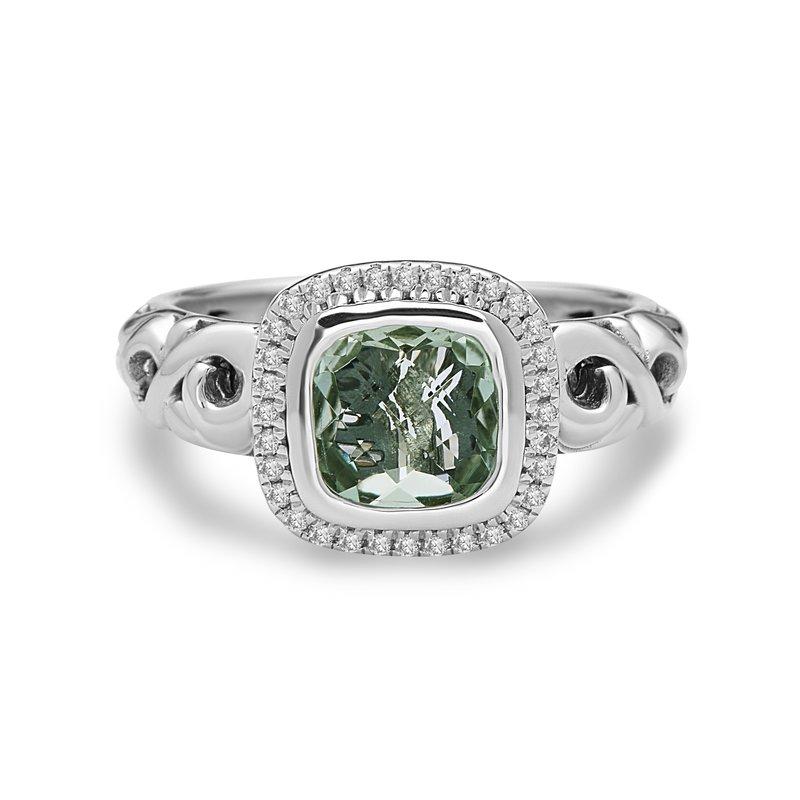 Studio Silver Green Amethyst Ellah Ring