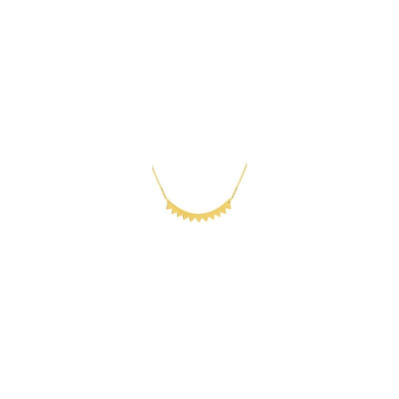 Studio Fine 14 Karat Curved Geometric Bar Necklace