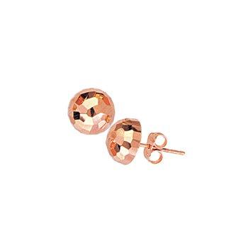 14 Karat Diamond Cut Dome Earrings