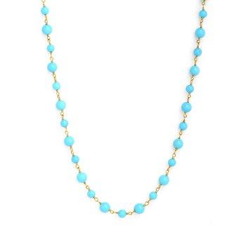 Turquoise Mogul Bead Necklace