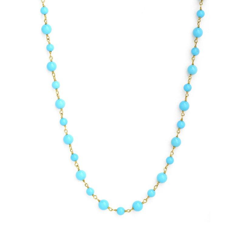 7 Mile Fine Turquoise Mogul Bead Necklace