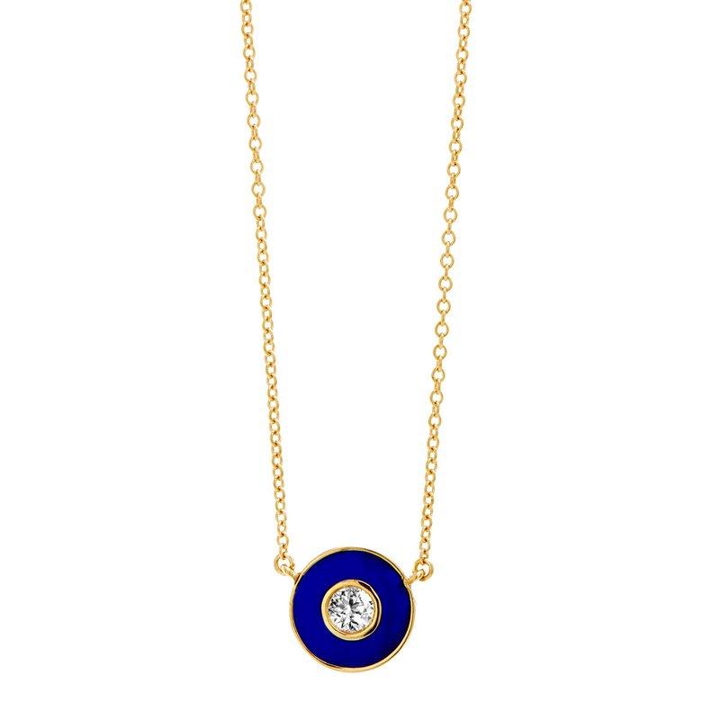 7 Mile Fine Blue Disc Diamond Necklace