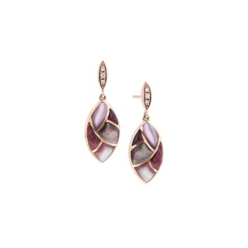 14 Karat Riviera Dusk Mosaic Earrings