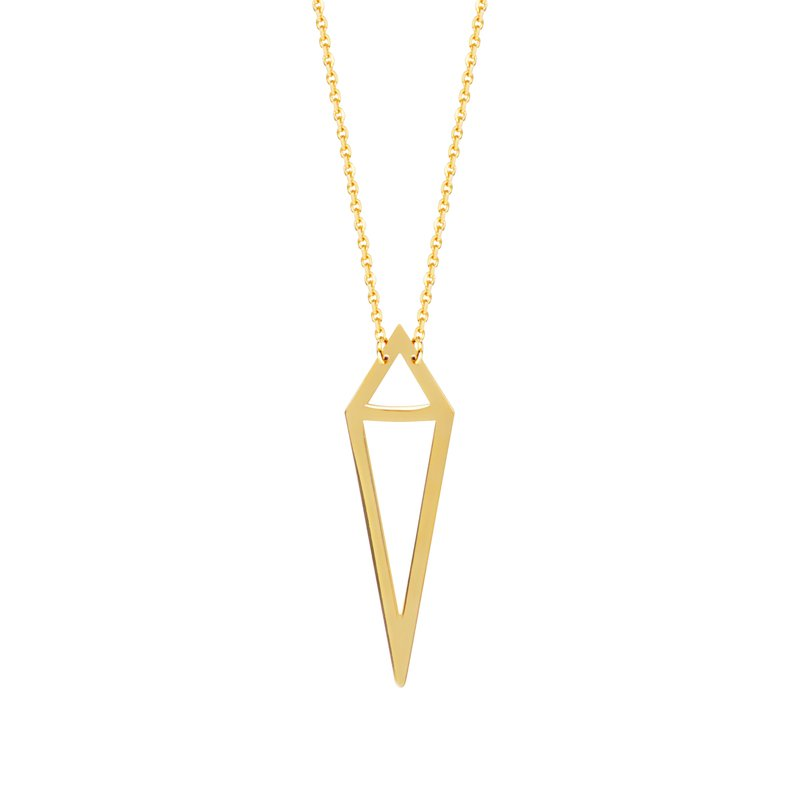 Studio Fine 14 Karat Geometric Necklace