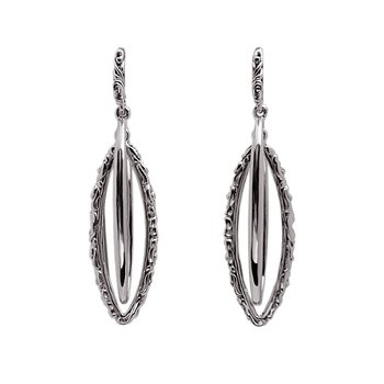 Oval Ivy Drop Earrings