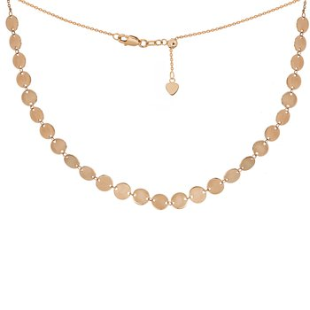 14 Karat Adjustable Disc Choker
