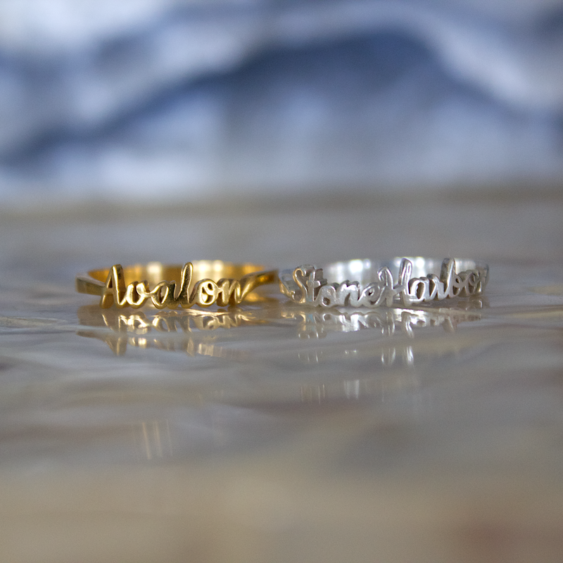 Avalon - Stone Harbor - Sea Isle Favorite Places Ring