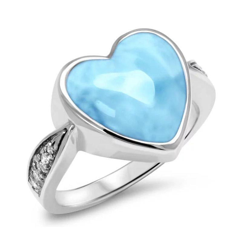 Studio Silver Sapphire Heart Ring