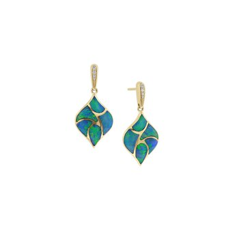 14 Karat 5-Star Opal Earrings