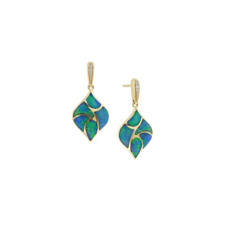 Studio Fine 14 Karat 5-Star Opal Earrings