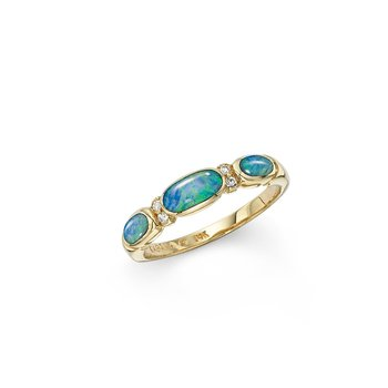14 Karat 4-Star Opal Ring