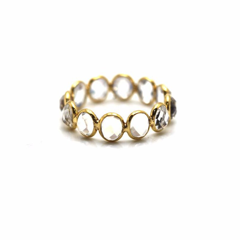 Studio Fine 18 Karat Moon Drop Oval Adjustable Ring