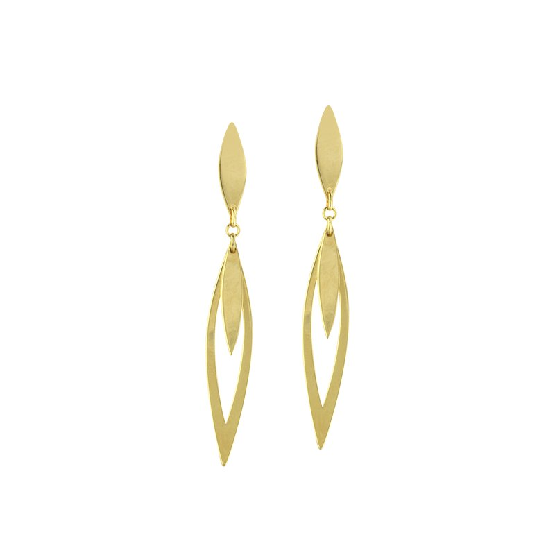 Studio Fine 14 Karat Marquise Dangle Earrings