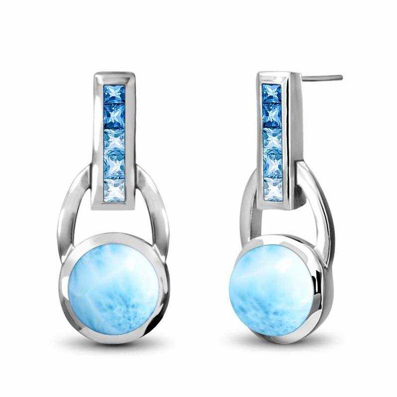 Studio Silver Aqua Earrings