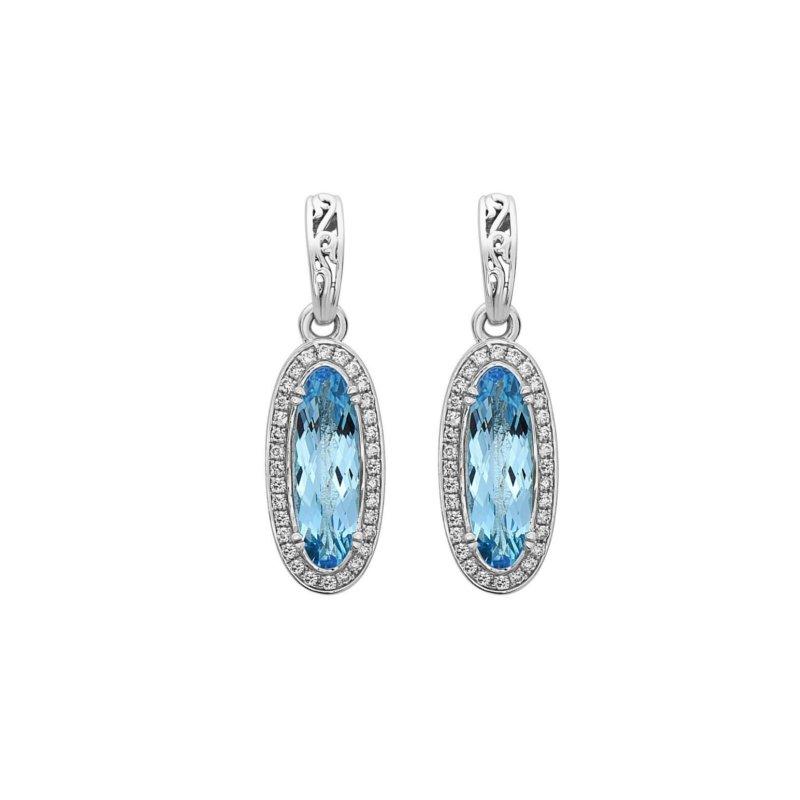 Studio Silver Blue Topaz Eve Earrings