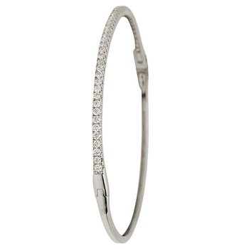 18 Karat Gold Diamond Bangle