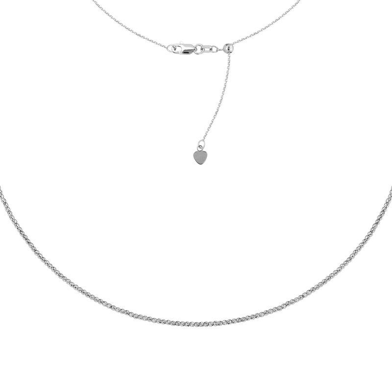 Studio Fine 14 Karat 2mm Diamond Cut Bead Choker