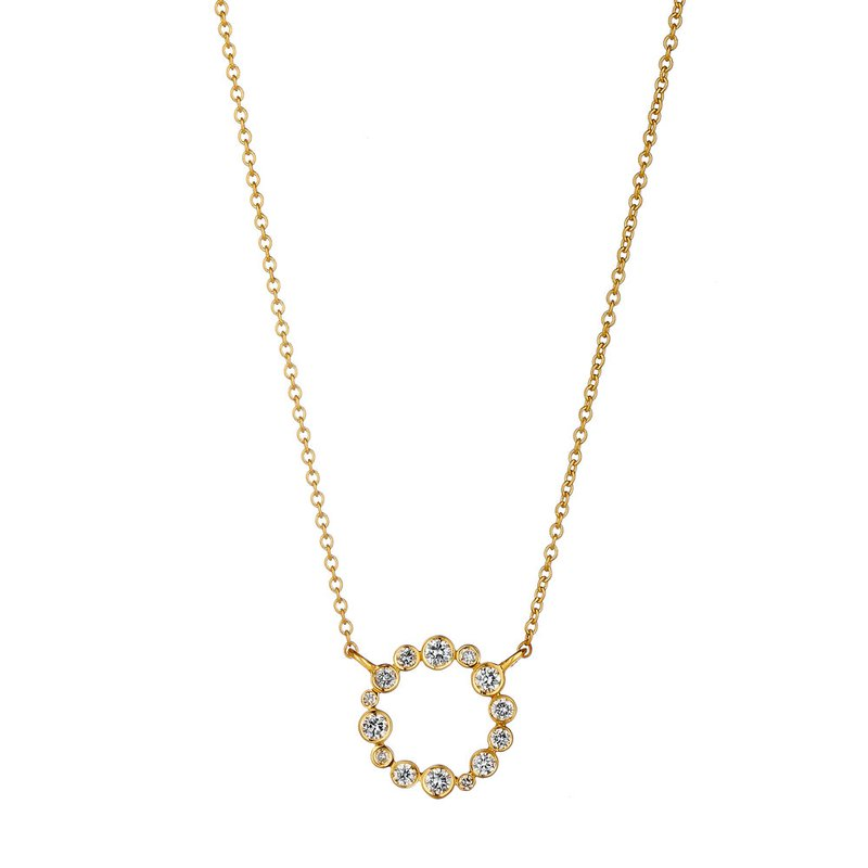 7 Mile Fine Bubbles Circle Necklace