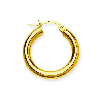 "14 Karat 3/4"" High Polish Hoops"