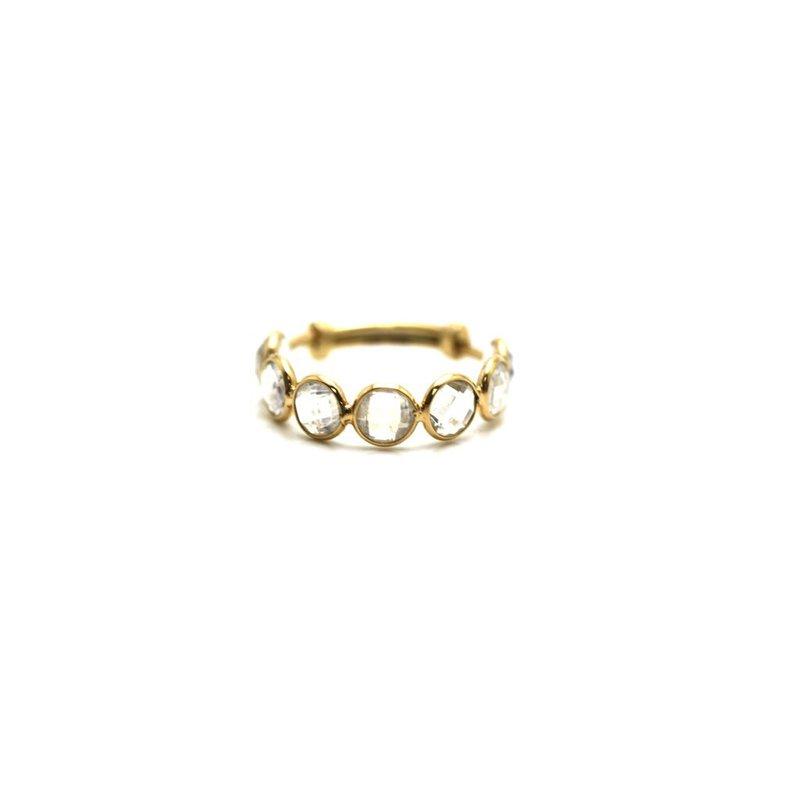 Studio Fine 18 Karat Moon Drop Adjustable Ring
