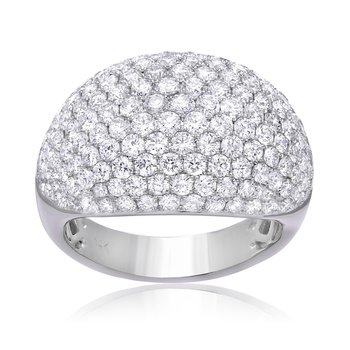 Pavé Dome Diamond Ring