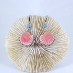 Beachy Baubles by The Studio Arielle Conch and Turquoise Earrings