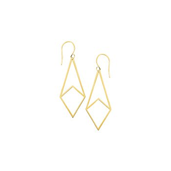 14 Karat Geometric Dangle Earrings