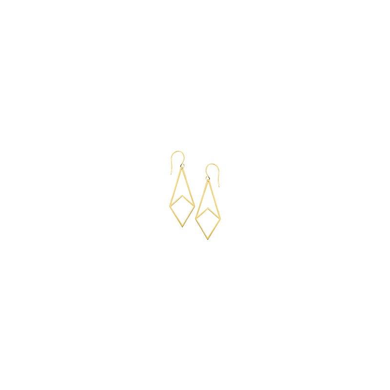 Studio Fine 14 Karat Geometric Dangle Earrings