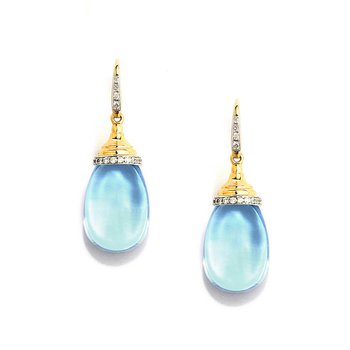 Blue Topaz Mogul Earrings