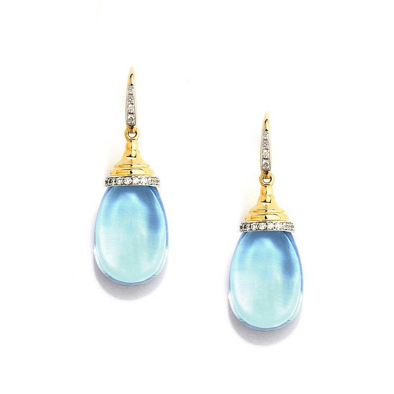 7 Mile Fine Blue Topaz Mogul Earrings