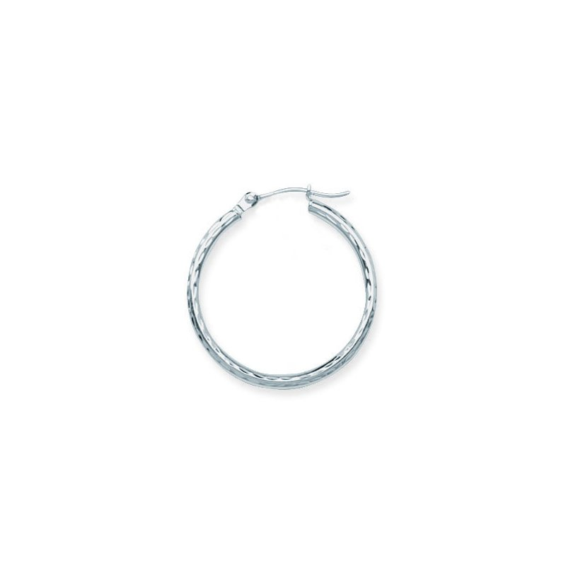 "Studio Fine 14 Karat 1"" Diamond Cut Hoops"