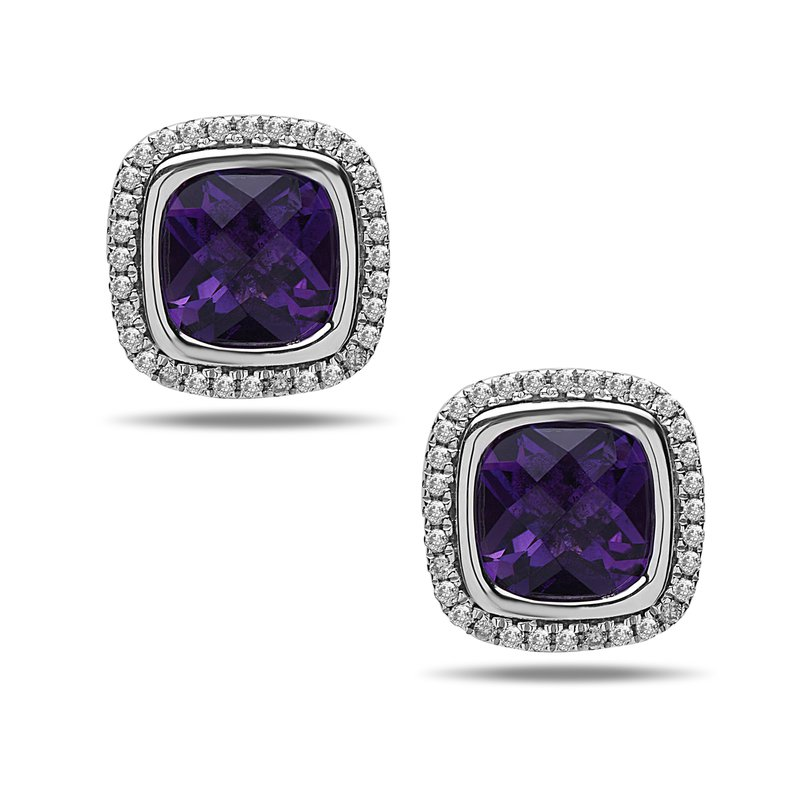 Studio Silver Amethyst Ellah Earrings